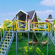 Recreation Site Mayak is the best for a family with kids